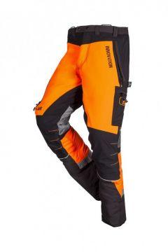 SIP zaagbroek W-Air grijs-oranje fluoriserend kort XS 1SBC-013 P