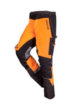 SIP zaagbroek W-Air grijs-oranje fluoriserend kort XXXL 1SBW-013 P