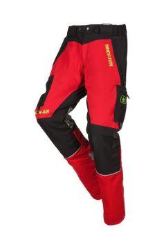 SIP zaagbroek Innovation rood-zwart kort XS 1SNC-833 P