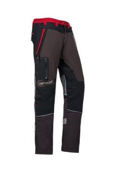 SIP zaagbroek Innovation grijs-rood regular XXL 1SNC-939 R