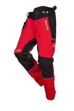 SIP zaagbroek Innovation rood-zwart kort XL 1SNW-833 P