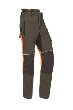 SIP zaagbroek Progress groen kaki/fluo oranje/ zwart S 1SRL-831 R