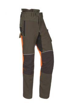 SIP zaagbroek Progress groen kaki/fluo oranje/ zwart XXL 1SRL-831 R