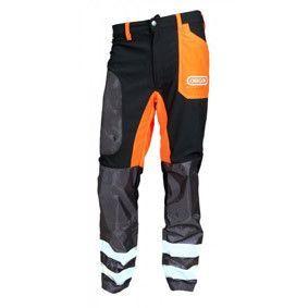 OREGON bosmaaierbroek zwart-oranje XXL 295465-XXL
