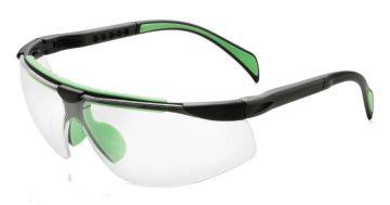 DYNAMIC SAFETY veiligheidsbril Lens clear zwart-groen 554