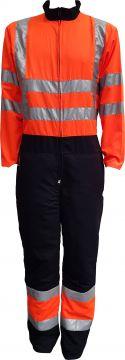 STICOMFORT zaag-snipperoverall zwart-oranje met RWS striping L 7166-l