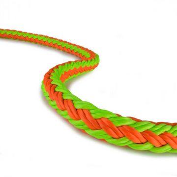 NEW ENGLAND vangstrop Trex Ses oranje-groen 19 mm 3/4 5 m