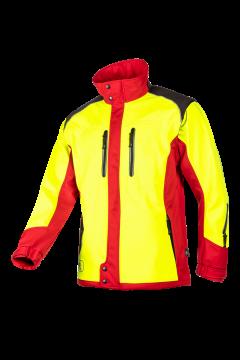 SIP jas Fuyu geel-rood fluoriserend softshell L 1SWS-768-L