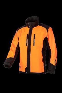 SIP jas fuyu oranje-zwart fluoriserend softshell S