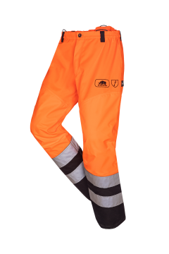 SIP bosmaaierbroek oranje-zwart fluoriserend XXXL 1rb5-183-xxxl
