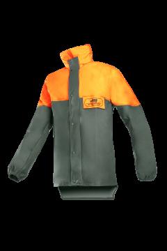 SIP regenjas groen-khaki fluo oranje EN 343 L 1SJ3-041