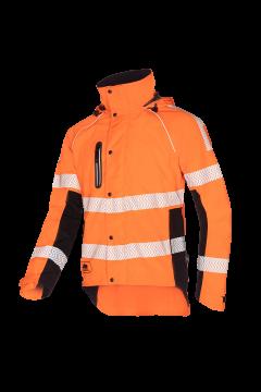 SIP regenjas oranje-zwart fluoriserend L 1smr-570-l