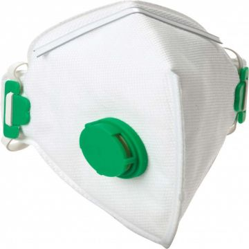 DYNAMIC SAFETY stofmasker wegwerp en opvouwbaar met ventiel ffp1v 10 stuks