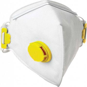 DYNAMIC SAFETY stofmasker wegwerp en opvouwbaar met ventiel ffp2v 10 stuks
