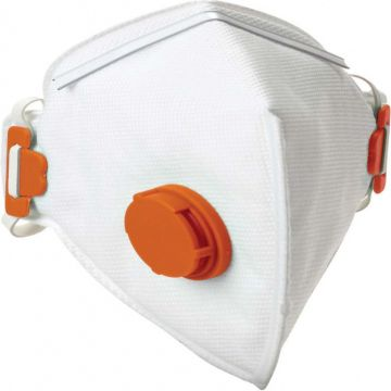 DYNAMIC SAFETY stofmasker wegwerp en opvouwbaar met ventiel ffp3v 10 stuks