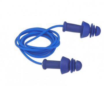DYNAMIC SAFETY oordopjes Comfort Fit herbruikbaar + koord doos 100 stuks