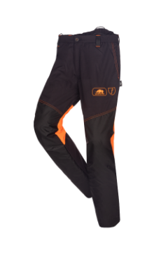 SIP bosmaaierbroek grijs-oranje fluoriserend XXL 1rb4-013
